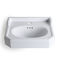 wall-mounted washbasin / rectangular / ceramic / traditional
