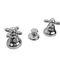 double-handle bidet mixer tap / free-standing / brass / bathroom