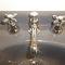 double-handle washbasin mixer tap / free-standing / metal / bathroom