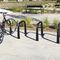 cast aluminum bike rack / for public spaces