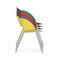 contemporary chair / stackable / painted metal / outdoor