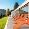 contemporary sun lounger / ipe / steel / for public spaces