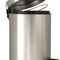 hygienic trash can / stainless steel / foot-operated / contemporary