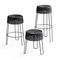 contemporary bar stool / stainless steel / polyethylene / made from recycled materials
