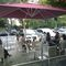 offset patio umbrella / commercial / acrylic / polyester
