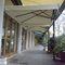 offset patio umbrella / polyester / acrylic / aluminum