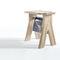 contemporary stool / oak / solid wood / walnut