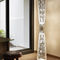 contemporary light column / stainless steel / halogen / indoor