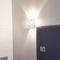 contemporary wall light / polished stainless steel / LED / halogen