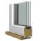 sliding patio door / wooden / aluminum / triple-glazed
