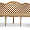 garden bench / classic / wooden / with backrest