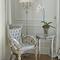 floor-standing lamp / traditional / brass / fabric