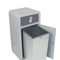 public trash can / galvanized steel / recycling / commercial