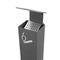 pedestal ashtray / wall-mounted / galvanized steel / for outdoor use
