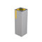 public trash can / wall-mounted / galvanized steel / contemporary