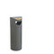 public trash can / galvanized steel / contemporary / with built-in ashtray