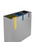 public trash can / galvanized steel / contemporary / recycling
