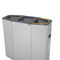 public trash can / galvanized steel / stainless steel / contemporary