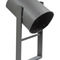 public trash can / built-in / galvanized steel / contemporary