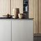contemporary kitchen / stone / island / modular