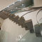 straight staircase / steel frame / stone steps / without risers