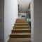 straight staircase / wooden frame / wooden steps / with risers