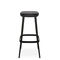 contemporary bar stool / leather / fabric / wooden