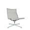 contemporary fireside chair / mesh / aluminum / swivel