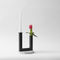 glass candle holder / painted metal / terrazzo