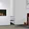 gas heating stove / contemporary / 3-sided / corner