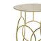 original design side table / glass / polished brass / round