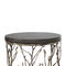 original design side table / ebony / brass / leather