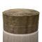 traditional pouf / velvet / golden