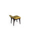 traditional upholstered bench / fabric / wood veneer / with backrest
