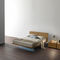 contemporary bedside table / lacquered wood / rectangular / square