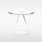 contemporary side table / glass / round / transparent