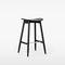 contemporary bar stool / oak / beech / upholstered