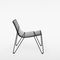 contemporary fireside chair / wire / stackable / black