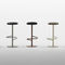 contemporary bar stool / fabric / powder-coated steel / for restaurants