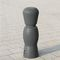 parking prevention bollard / rubber / recycled plastic / removable
