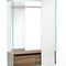 contemporary entryway cabinet / wooden / glass / with mirror