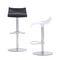 contemporary bar stool / beech / leather / chromed metal