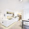 contemporary kitchen / wooden / lacquered / matte