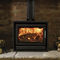 wood heating stove / multi-fuel / contemporary / metal