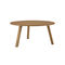 contemporary table / teak / glass / stainless steel