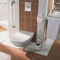 wall-mounted toilet roll holder / stainless steel