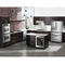 undercounter wine cabinet / built-in / stainless steel / electric