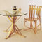 contemporary table / bentwood / laminate / maple base