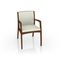 traditional visitor chair / with armrests / upholstered / fabric