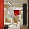 hanging light fixture / fluorescent / linear / aluminum